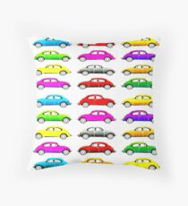 VW Multi Beetle Throw Pillow