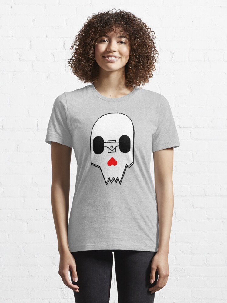 Alternate view of Broken Skateboard Skull V1 Essential T-Shirt