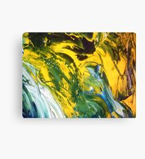 Yellow juzz Canvas Print
