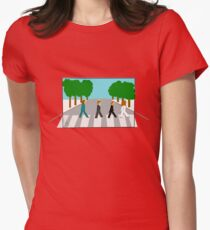 The Beatles - Abbey Road (Perspective) Womens Fitted T-Shirt