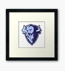 Buffalo Head Mascot Emblem. Framed Print