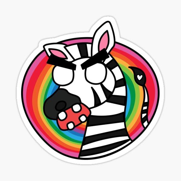 angry zombie zebra Sticker