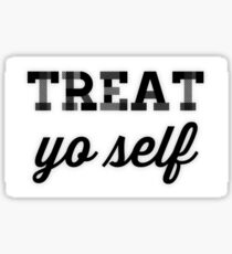 Treat Yo Self Plaid Sticker