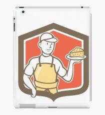 Cheesemaker Holding Parmesan Cheese Cartoon iPad Case/Skin
