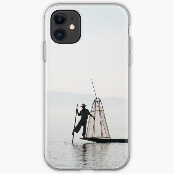The fisher at Inle Lake iPhone Soft Case