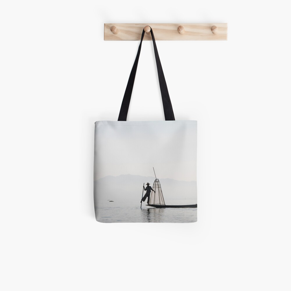The fisher at Inle Lake Tote Bag