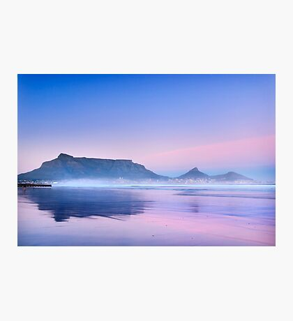 Pastel Dawn over Table Mountain Photographic Print