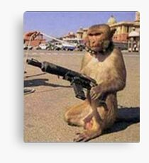 Army Monkey Canvas Print