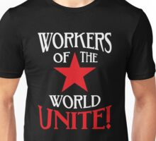 Workers of the World Unite - Red Star & Slogan Unisex T-Shirt