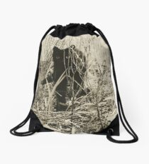 Kitty in Wonderland Drawstring Bag