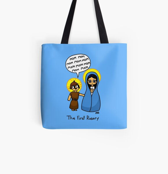 The First Rosary All Over Print Tote Bag