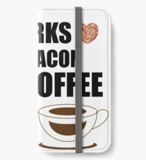Works for Bacon and Coffee iPhone Wallet/Case/Skin
