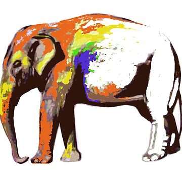 Cool Elephant Animal Colors Abstract Sketch by LukaMatijas