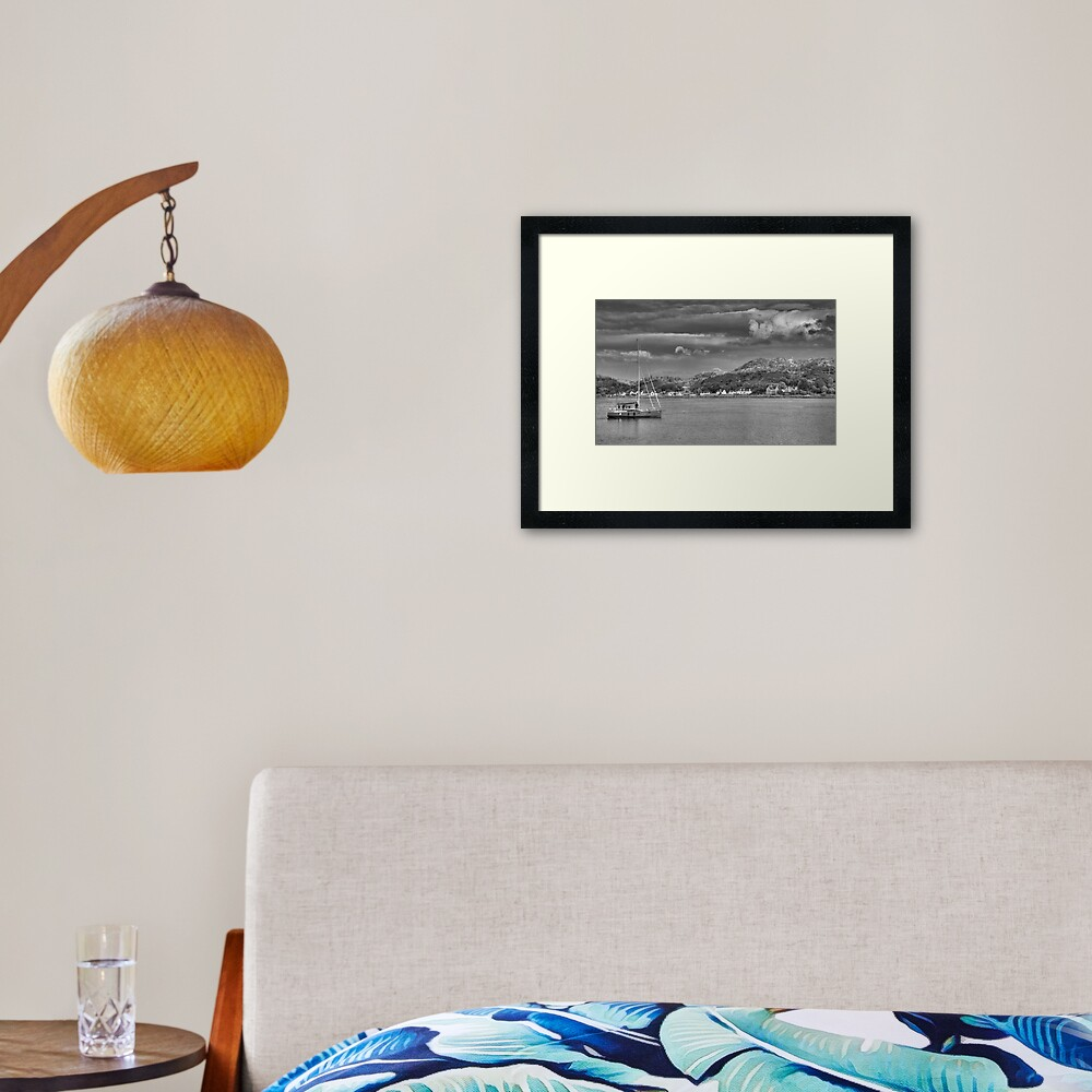 Lochinver Harbour, Sutherland, Scotland. Framed Art Print