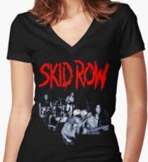 tour date Skid Row time 2016 cl4 Women's Fitted V-Neck T-Shirt