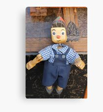 old wooden puppet Canvas Print