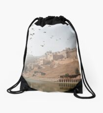 Jaipur Amber Fort Drawstring Bag
