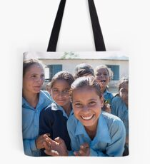 Girls In Tesinge - Far-west Nepal Tote Bag