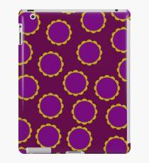 1970s Burgundy Flower Pattern iPad Case/Skin