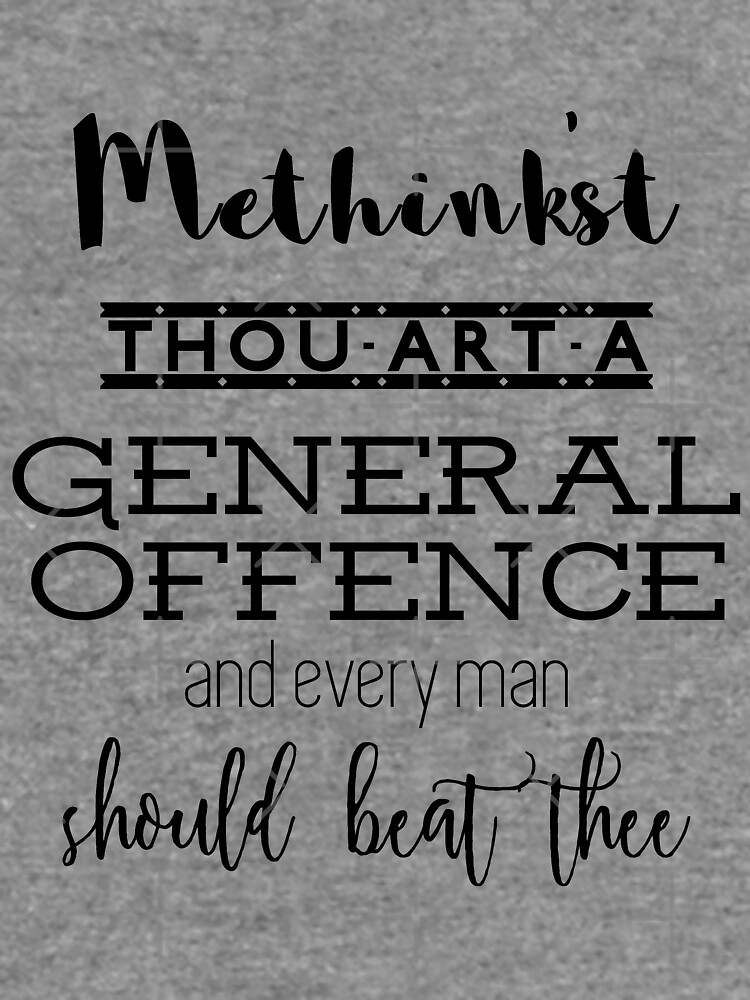"""""""Thou art a general offence"""" Shakespeare insult by siyi"""