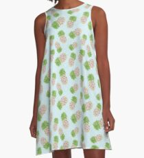 Painted Pineapple  A-Line Dress