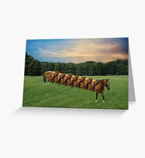 (✿◠‿◠)  HORSE LIMO RIDES SEVEN LETS RIDE LOL (✿◠‿◠) Greeting Card