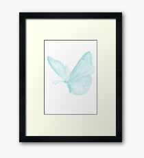 Blue Butterfly Animal Illustration Watercolor Painting Picture Poster Framed Print