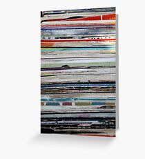 old vinyl records Greeting Card