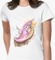 Bird Eats Sun Womens Fitted T-Shirt
