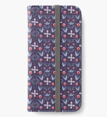 Navy Tulpenfelder iPhone Flip-Case/Hülle/Skin