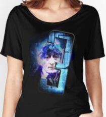 Dr Who The Third Doctor Jon Pertwee T-Shirt Women's Relaxed Fit T-Shirt