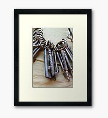 old keys Framed Print