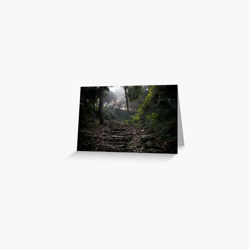 Stairs to the mountain  Greeting Card