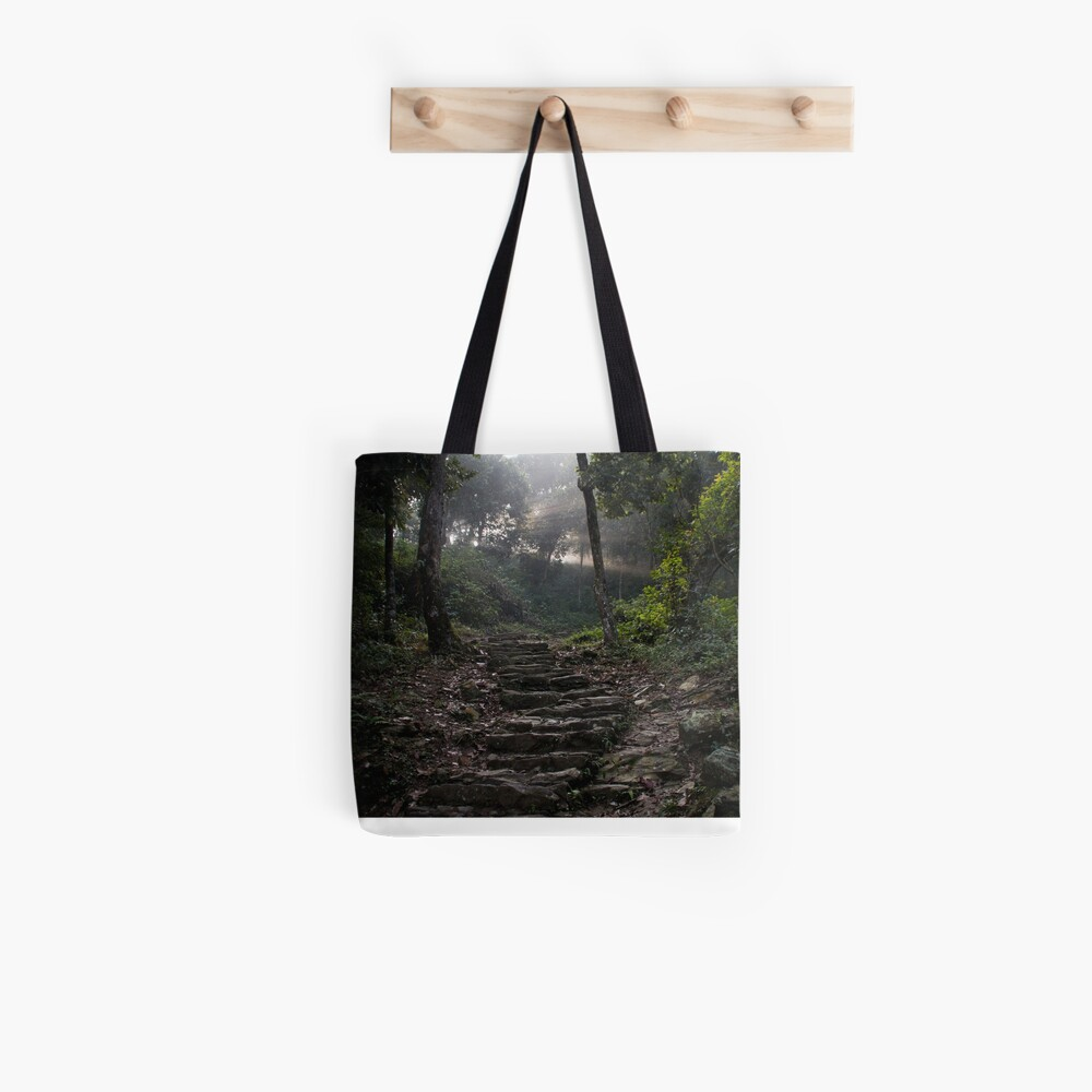 Stairs to the mountain  Tote Bag