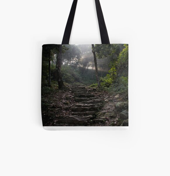 Stairs to the mountain  All Over Print Tote Bag