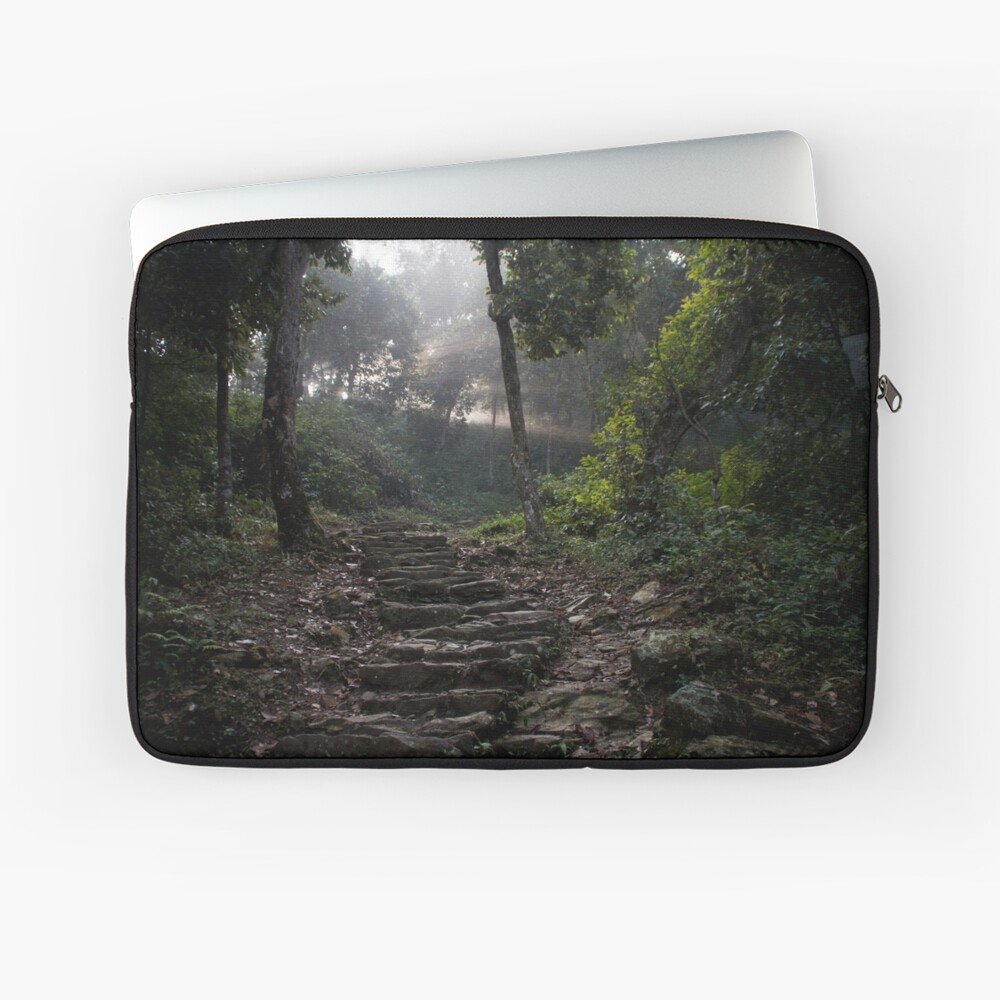 Stairs to the mountain  Laptop Sleeve