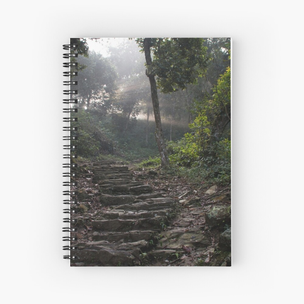 Stairs to the mountain  Spiral Notebook
