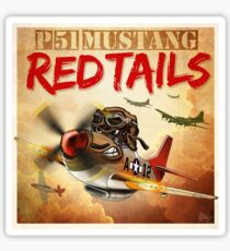 "WINGS Series ""P-51 RED TAILS"" Sticker"