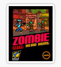 Zombie Head Hunt Sticker