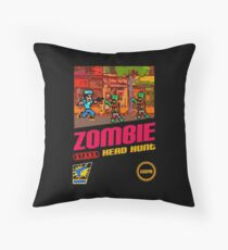 Zombie Head Hunt Throw Pillow