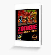 Zombie Head Hunt Greeting Card