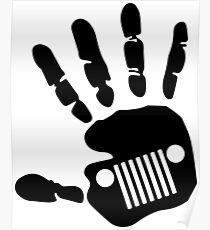 Jeep Wrangler JK Hand Wave Poster