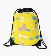 Seamless background with toys Drawstring Bag