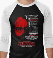Allen Ginsberg Howl - Beat Poem Author T-shirt Men's Baseball ¾ T-Shirt