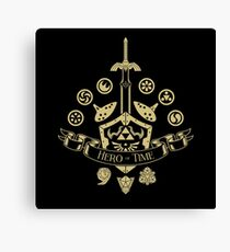 Hero of Time - Coat of Arms Canvas Print