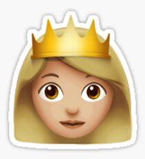 Emoji Queen (Blonde) Sticker