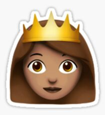 Emoji Queen (Brunette) Sticker