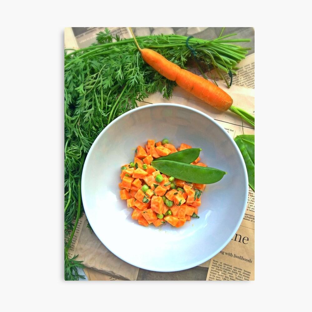 Karotten und Erbsen Leinwanddruck