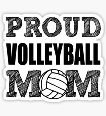 Proud Volleyball Mom funny shirt  Sticker