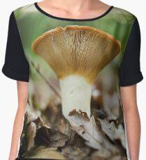 Peppery milk-cap, edible mushroom Women's Chiffon Top